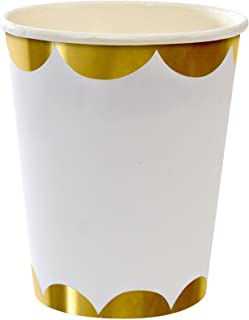 Meri Meri 45-1228 Toot Sweet Gold Party Cups Novelty by Meri Meri