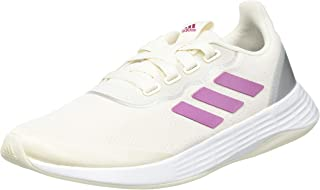 Adidas QT Racer Sport Pull-Tab Side-Stripe Patterned Midsole Lace-Up Running Sneakers for Women