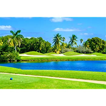 Amazon Com Yeele 8x6ft Spring Backdrop Golf Course Lakeside Forest Jungle Scenic Park Photography Background Kids Adults Portrait Photobooth Props Digital Wallpaper Camera Photo