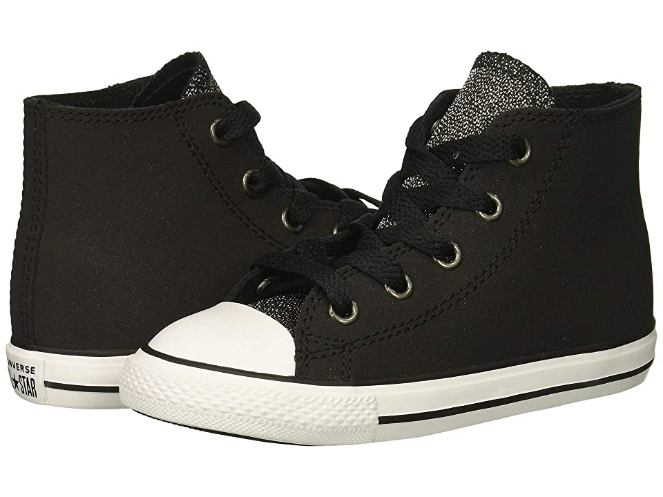 5e529ddf9d82 Converse Kids Chuck Taylor All Star Glitter Hi (Infant Toddler) (Black