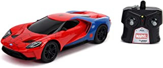 jada Toys Marvel Spider-Man 2017 Ford GT R/C, 1: 16 Scale with USB Charging, 2.4Ghz & Turbo Boost