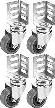 Dörner + Helmer Set zwenkwielen met hoekplaat (38x38x52 mm, 50x21 mm, rubberen wiel, draagkracht 40kg/rol, 4 stuks) 450107