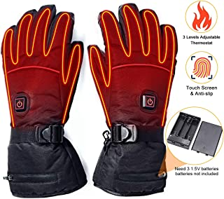 upstartech Heated Gloves for Men Women Rechargeable Upgraded Electric Heated Gloves with..