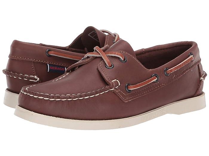 Retro Vintage Flats and Low Heel Shoes Sebago Dockside Portland Brown Womens Shoes $120.00 AT vintagedancer.com