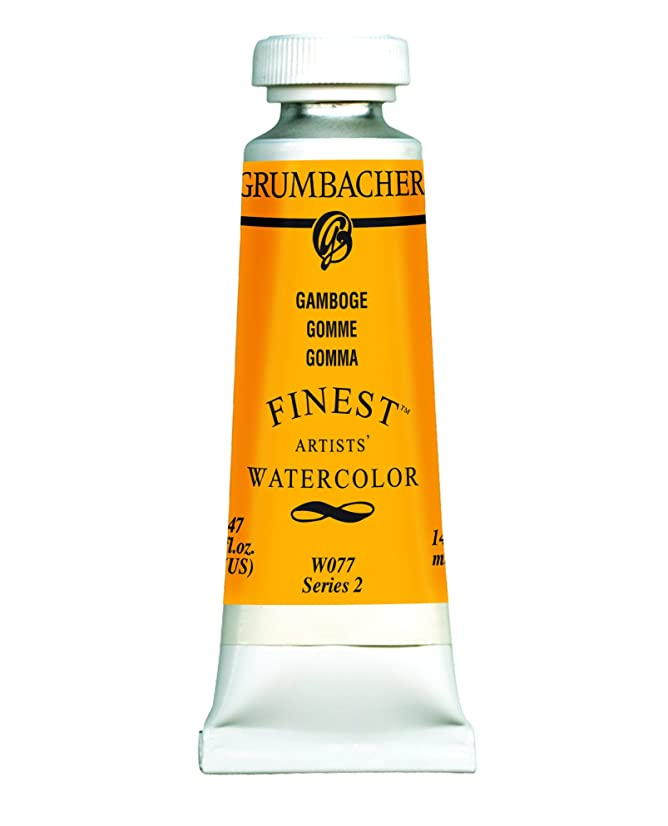Grumbacher Finest Watercolor Paint, 14 ml/0.47 oz, Gamboge