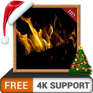 Dark Chimenea HD gratis: disfrute de las vacaciones de Navidad de invierno con una chimenea romántica en su televisor HDR 8K 4K y dispositivos de fuego como fondo de pantalla y tema para la mediación