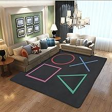 Gamer Alfombra de control de juego para decoración de sala de estar, alfombrilla de juego antideslizante para dormitorio, niños jugar alfombras, cuarto de bebé, decoración de Youset (35.8 x 59.8in)