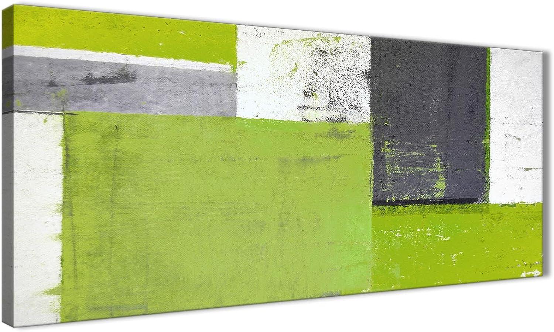 Wallfillers Leinwandbild, Leinwandbild, Leinwandbild, abstrakte und moderne Kunst, 120 cm breit, Grüngelb Grau, 1339 B075MC152M 2e8984