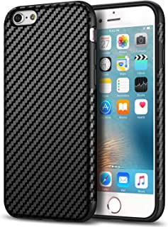 Tasikar Compatible with iPhone 6s Case/iPhone 6 Case Good Grip Slim Case Carbon Fiber Leather Design for iPhone 6s / iPhone 6 (Black)