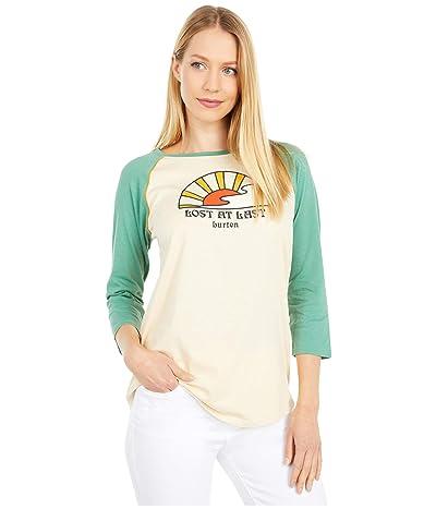 Burton Ashmore Raglan Long Sleeve T-Shirt (Creme Brulee/Frosty Spruce) Women
