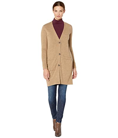 Pendleton Merino Long Cardigan (Camel Heather) Women