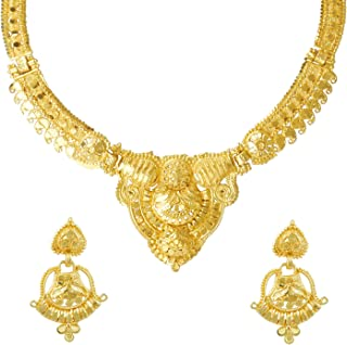 22K Gold Plated Traditional Indian Bollywood Necklace Jewellery Set for Women (SJ_2648)