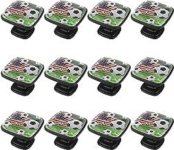 12 stks knoppen voor dressoir laden dressoir knoppen Amerikaanse voetbal logo voor dressoir lade, kast