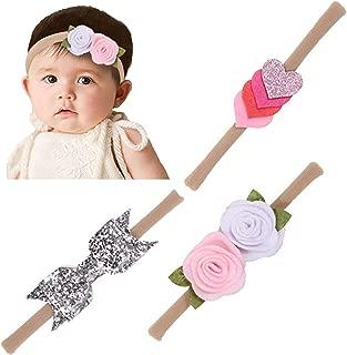 Prettyia 2pcs Baby Kids Girl Prewalker Shoes Headband Tulle Flower Soft Sole