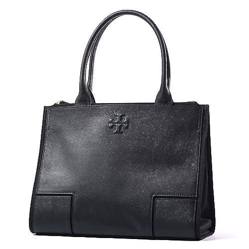 c3f300e62006 Tory Burch Ella Canvas Black Tote Leather New