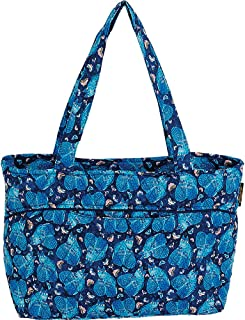 Laurel Burch Quilted Cotton Medium Shoulder Tote Bag