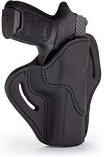 1791 GUNLEATHER SIG P320 Holster, Right Hand OWB Leather Gun Holster for Belts Also fits Sig SP2022, P227, HK P30, VP40 and Most Large Frame Pistols