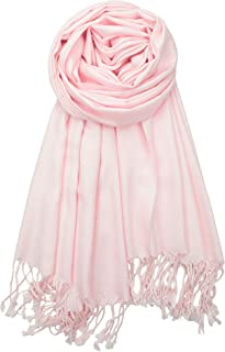 Achillea Large Soft Silky Pashmina Shawl Wrap Scarf in Solid Colors
