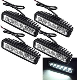 WIS 4 X 18W LED Arbeitsscheinwerfer Light Bar Flutlicht Offroad Scheinwerfer 12V 24V Zusatzscheinwerfer SUV, UTV, ATV Reflektor Arbeitslicht Rückfahrscheinwerfer