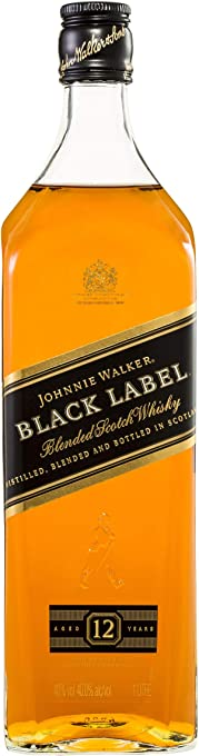 Johnnie Walker Black Label Blended Aged 12 Years Scotch Whisky 1L