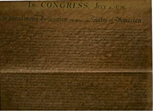 In Congress, July 4, 1776, the Unanimous Declaration of the Thirteen United States of America(replica Print of the Original Document: (13