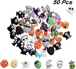 50 Styles Halloween Resin Flatback Craft Embellishment Halloween Craft Beads with Lantern Pumpkin Ghost Spider for Halloween DIY Crafts