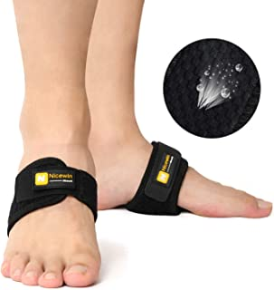 Arch Support Brace Adjustable Strap Snug Fit Cushions for Men Women Pain Relief of Drop Foot, Flat Feet, High Arches, Heel Spurs, One Size Fits Most