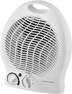 MKWEY Calefactor con Ventilador eléctrico y 3 Funciones Ajustables, Termostato Regulable, 2000 W, Asa integrada