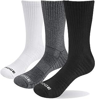 YUEDGE, Mujeres Calcetines de Senderismo Trekking Anti ampollas Respirables Corriendo Calcetines Deportivos, Alto Rendimiento (XL (Zapatos de Mujer 40,5-43,5 EUR Tamaño), Blanco/Gris/Negro)
