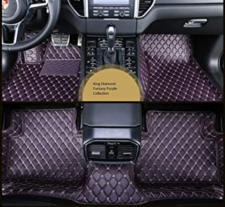 Spartan Autotec - Floor Liners Front and Second Row Seats 3pcs for Jeep Cherokee - King Diamond Series - Fantasy Purple