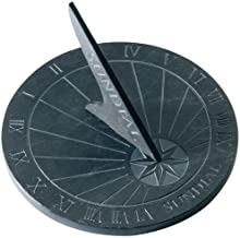 Large Round Slate Garden Sundial