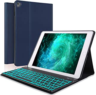 iPad Pro 11 Inch Keyboard Case for iPad Pro 11 2018, iPad Pro 2018 Leather Tablet Case, Wireless Bluetooth Keyboard, Ultra Thin PU Leather Flip Stand Tablet Protector, Auto Wake/Sleep