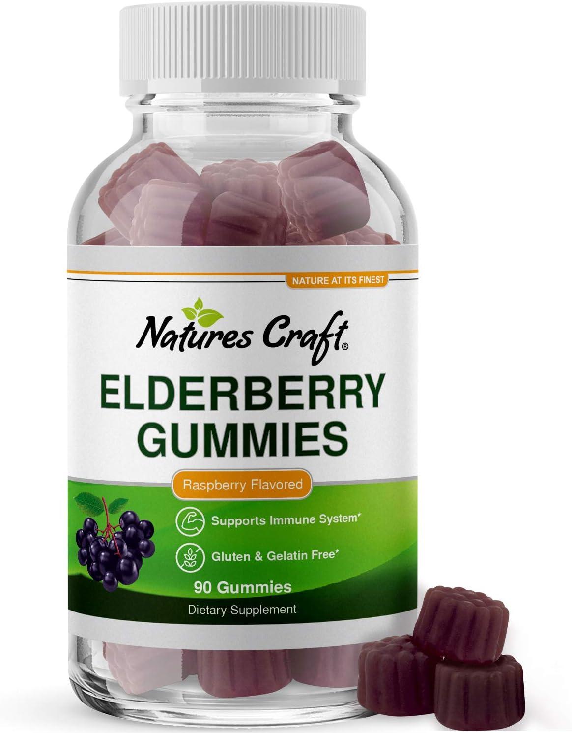 Immunity Be super Sales welcome Sambucus Elderberry Gummies for Black Elderber Adults -
