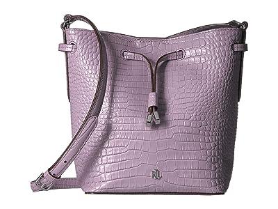 LAUREN Ralph Lauren Dryden Debby II Drawstring Bag (Lavender) Handbags