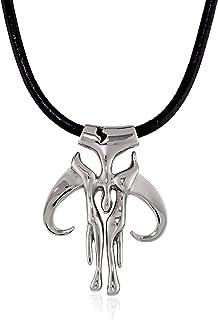 Star Wars Jewelry - Collana con ciondolo a forma di simbolo mandaloriano, in acciaio INOX, 50,8 cm