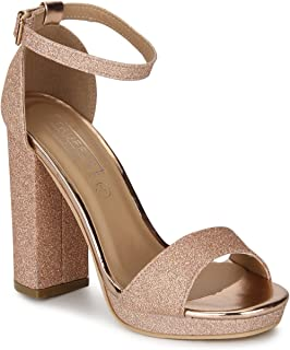TRUFFLE COLLECTION Women's DELTA1 Gold PU Fashion Sandals