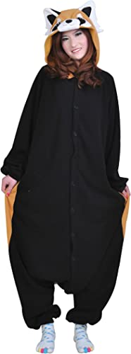 dressfan Unisex Adult Animal Pyjamas Waschb Cosplay Kostüm