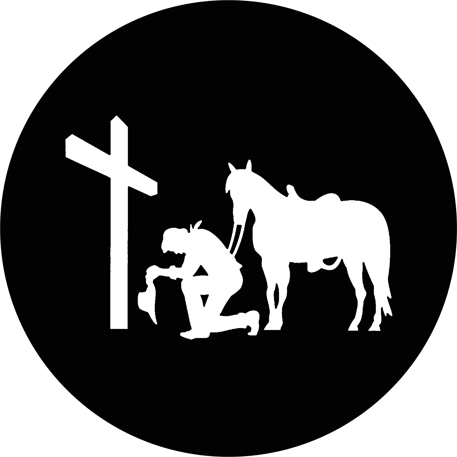 Gifts TIRE COVER CENTRAL Cowboy Kneeling Sacramento Mall at Spare Horse Cov Cross Tire