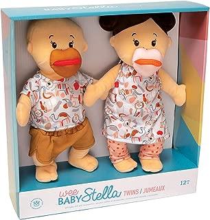 """Manhattan Toy Wee Baby Stella Peach 12"""" Soft Baby Twin Dolls"""