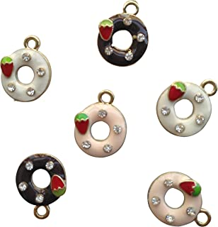 AMOBESTER Doughnuts Charms Pendants DIY Necklace for Child Girl or DIY Best Friend Jewelry Making