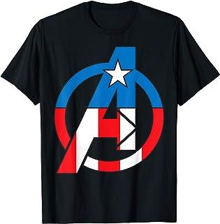 Marvel Avengers Captain America Costume Fill Logo T-Shirt