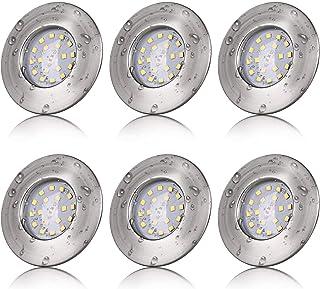 Spot LED Encastrable Salle de Bain IP44 5W Rond Extra Plat Blanc Froid 6000K 220V Éclairage Plafond Encastré pour Cuisine,...