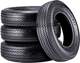 Trailer Tire 205 75 15 VANACC ST205/75D/15 Trailer Tires Bias Ply 6PR Load Range D 107N Set of 4