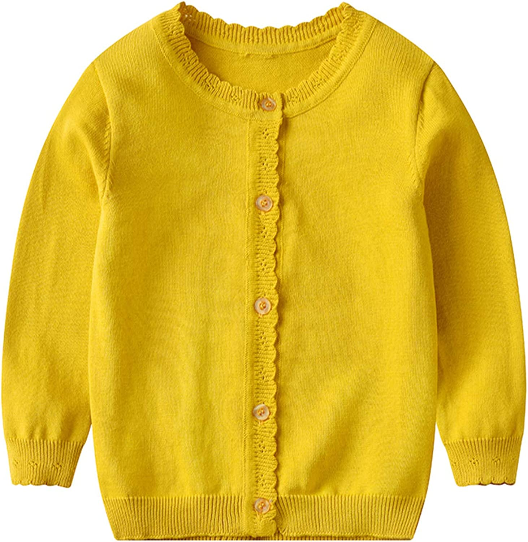 OAKFashion Toddler Baby Girl Boy Cardigan Sweater Long Sleeve Top Cotton Knit Jacket Ultral Soft Coat Fall Winter Outwear