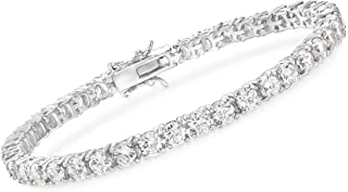 "Sterling Silver White CZ Tennis Bracelet 7.2 /"" Length"