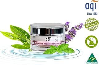 AQI Face Cream & Neck Cream with Sodium Hyaluronate, Omega 6 & Beta Glucan | Daily Facial Moisturizer | for Sensitive, Dry & Irritated Skin for Women & Men - 1.7 fl oz