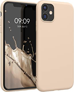 kwmobile TPU Silicone Case Compatible with Apple iPhone 11 - Soft Flexible Protective Phone Cover - Mother of Pearl
