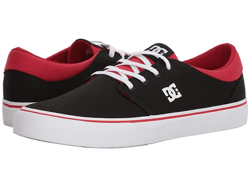 DC Trase TX (Black/Athletic Red/Black) Skate Shoes