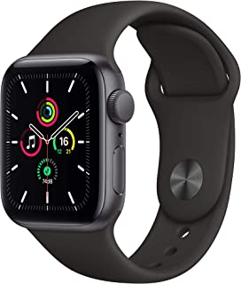 Apple Watch SE (GPS, 44mm) - Space Grey Aluminium Case with Black Sport Band