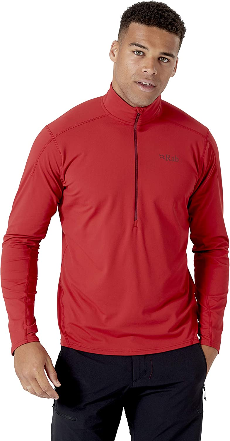 Rab Flux Pull-On Long Sleeve Top Anti-Odour Fast-Drying Stretch Baselayer Lightweight Fleece